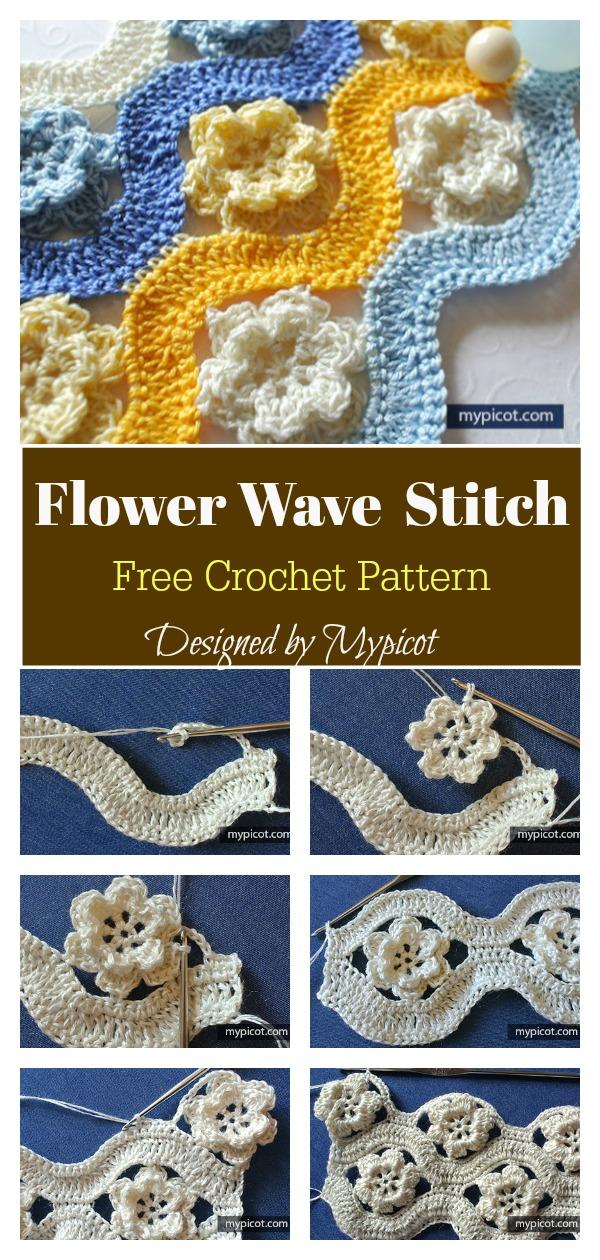 Flower Wave Stitch Free Crochet Pattern