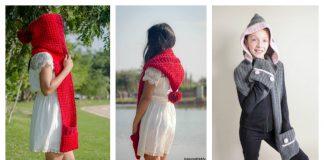 Hood Pocket Scarf Free Crochet Pattern