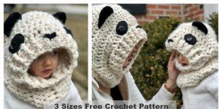 Hooded Panda Cowl Free Crochet Pattern
