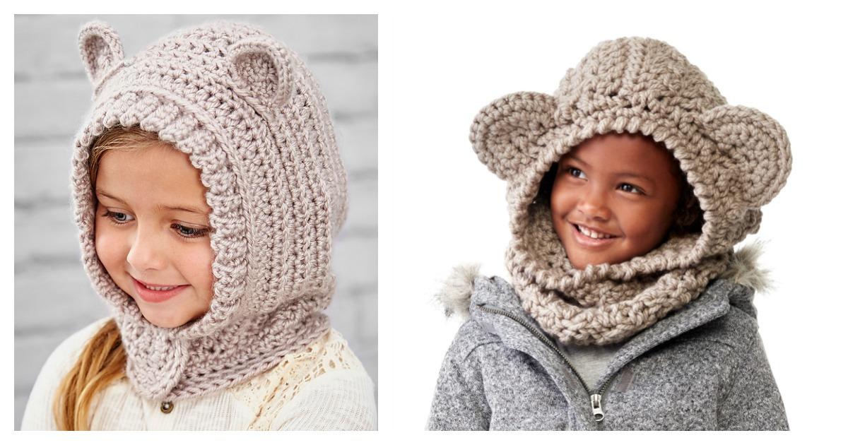 Kids Hooded Cowl Free Crochet Pattern