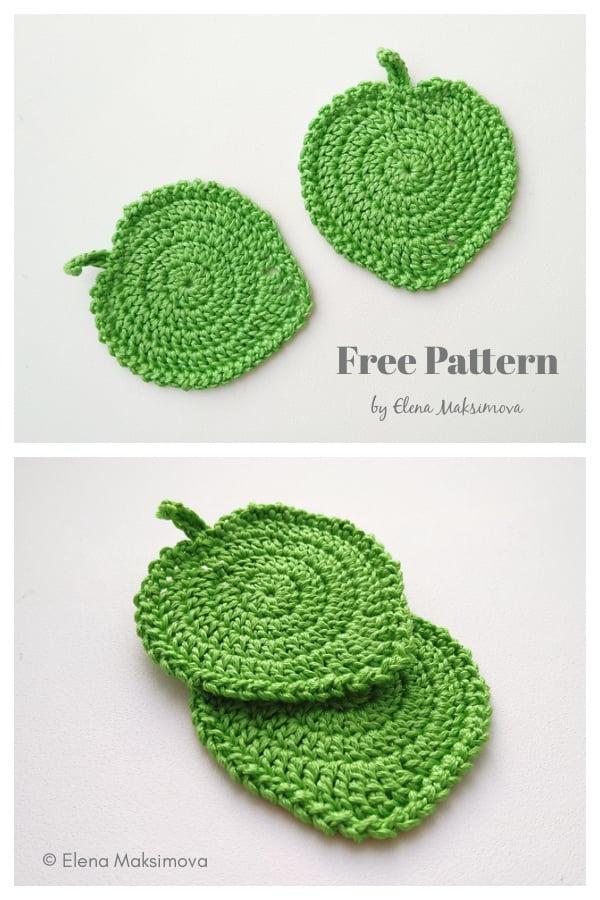 Leaf Coaster Free Crochet Pattern