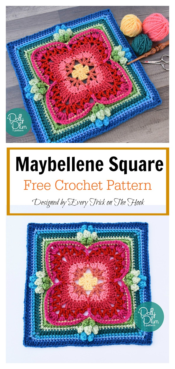 Maybellene Square Free Crochet Pattern