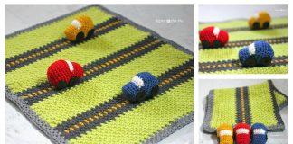 Race Car Blanket Play Mat Free Crochet Pattern