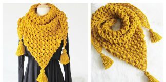 Rose Petals Shawl Free Crochet Pattern