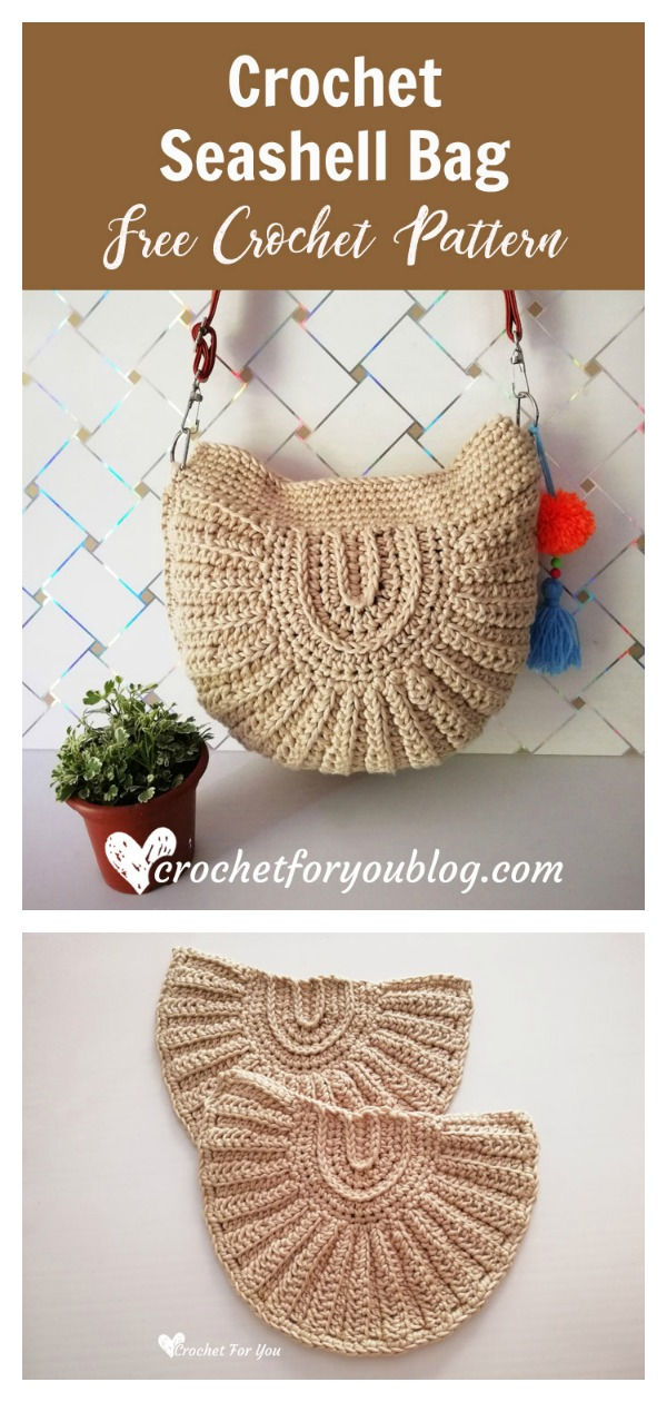 Seashell Bag Free Crochet Pattern