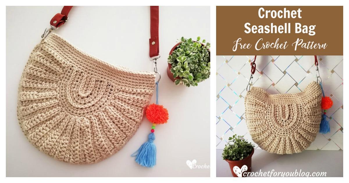 Seashell Bag Free Crochet Pattern