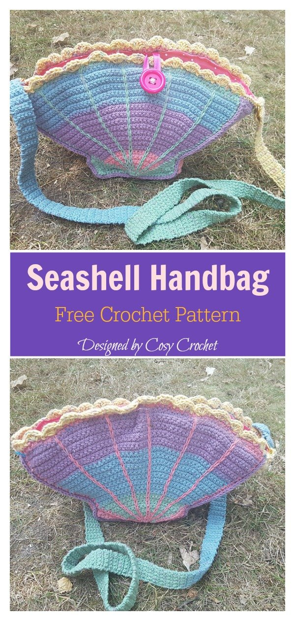 Seashell Handbag Free Crochet Pattern