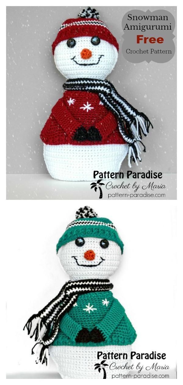 Sparkles The Snowman Amigurumi Free Crochet Pattern
