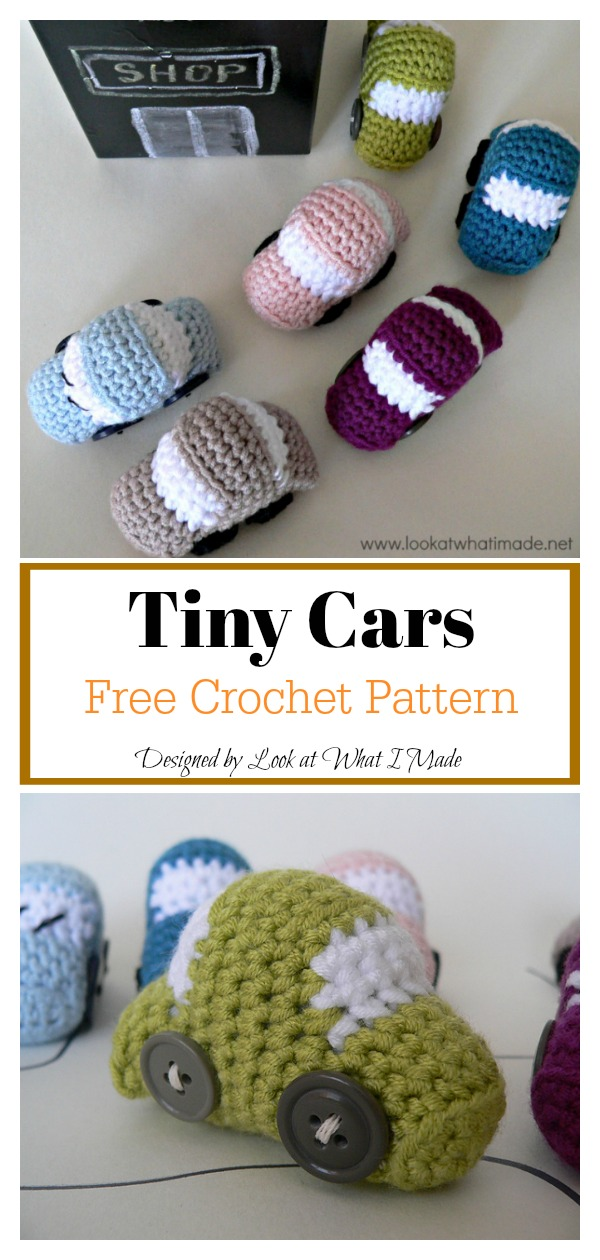 Tiny Cars Free Crochet Pattern
