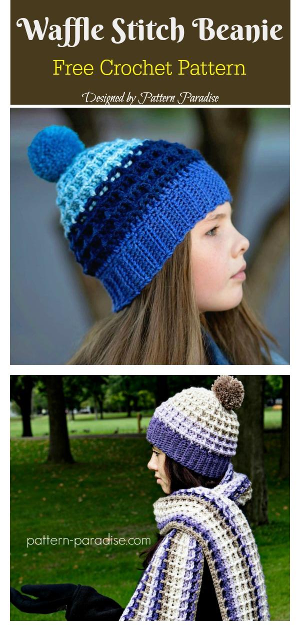 Waffle Stitch Beanie Hat Free Crochet Pattern 09c87c01ebd