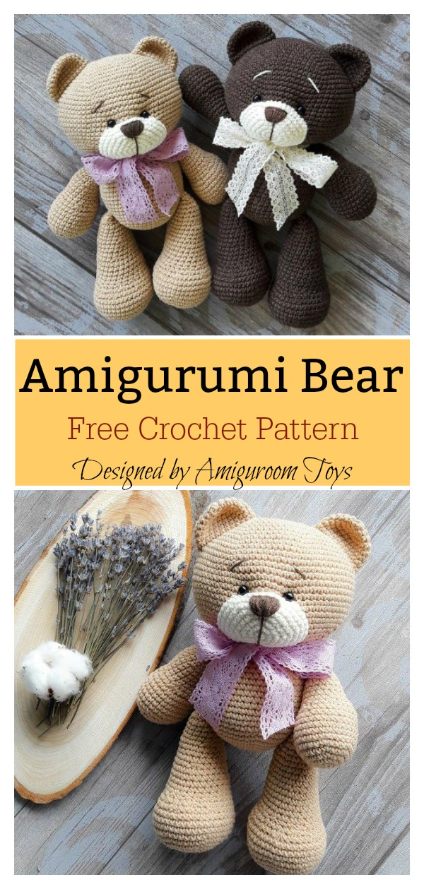 Free Teddy Bear crochet pattern - Amigurumi Today | 1259x600