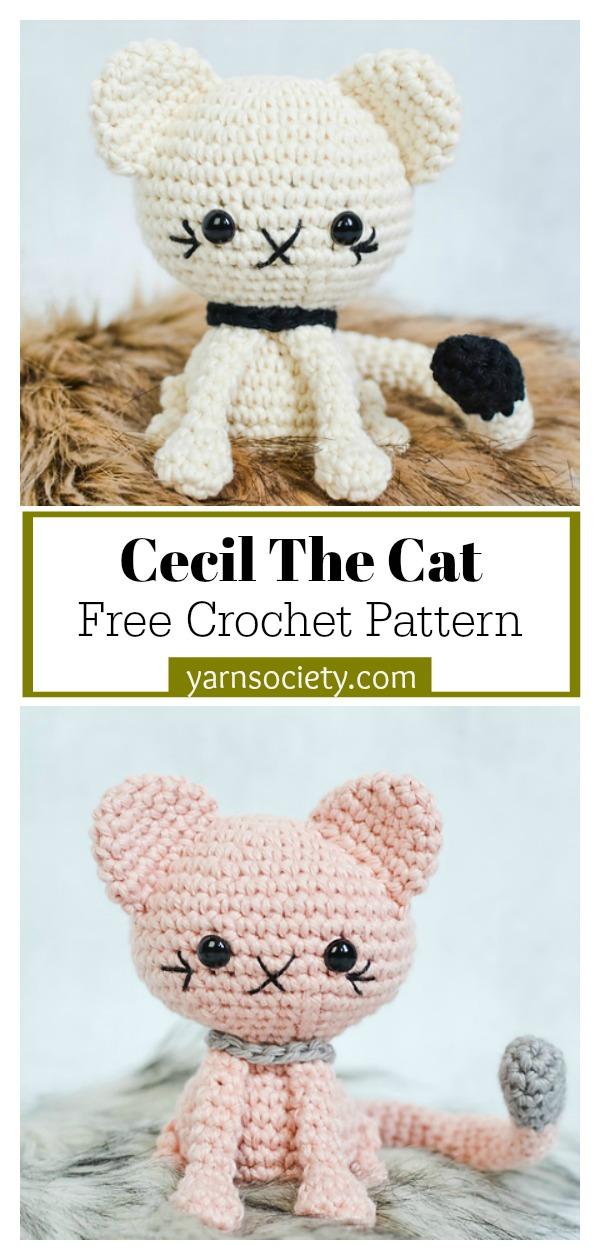 Amigurumi Cecil The Cat Free Crochet Pattern