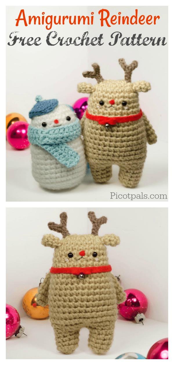 Crochet Patterns Amigurumi Christmas Reindeer Free Crochet Pattern ... | 1260x600