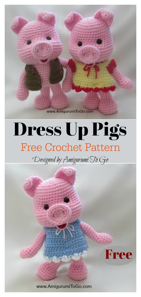 Amigurumi Dress Up Pig Free Crochet Pattern