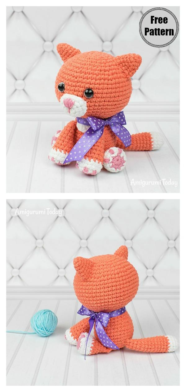 Amigurumi Ginger Cat Free Crochet Pattern