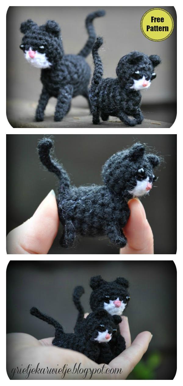 Amigurumi Mini Cat Free Crochet Pattern