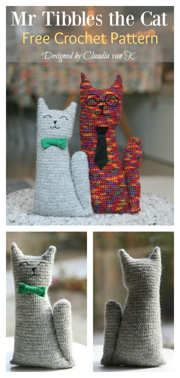 Amigurumi Mr Tibbles the Cat Free Crochet Pattern