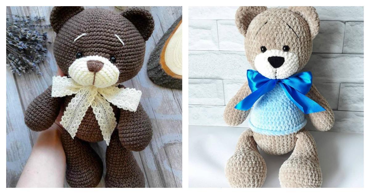 Crochet bear free pattern | Crochet bear patterns, Crochet teddy ... | 630x1200