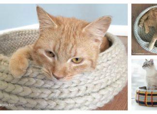 Cat Bed Free Crochet Pattern
