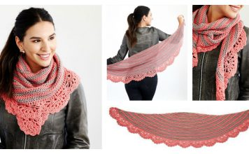 Chic and Strong Crescent Shawl Free Crochet Pattern and Video Tutorial