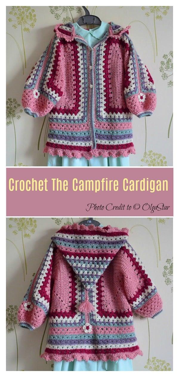 Crochet The Campfire Cardigan