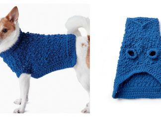 Dog Coat Free Crochet Pattern and Video Tutorial