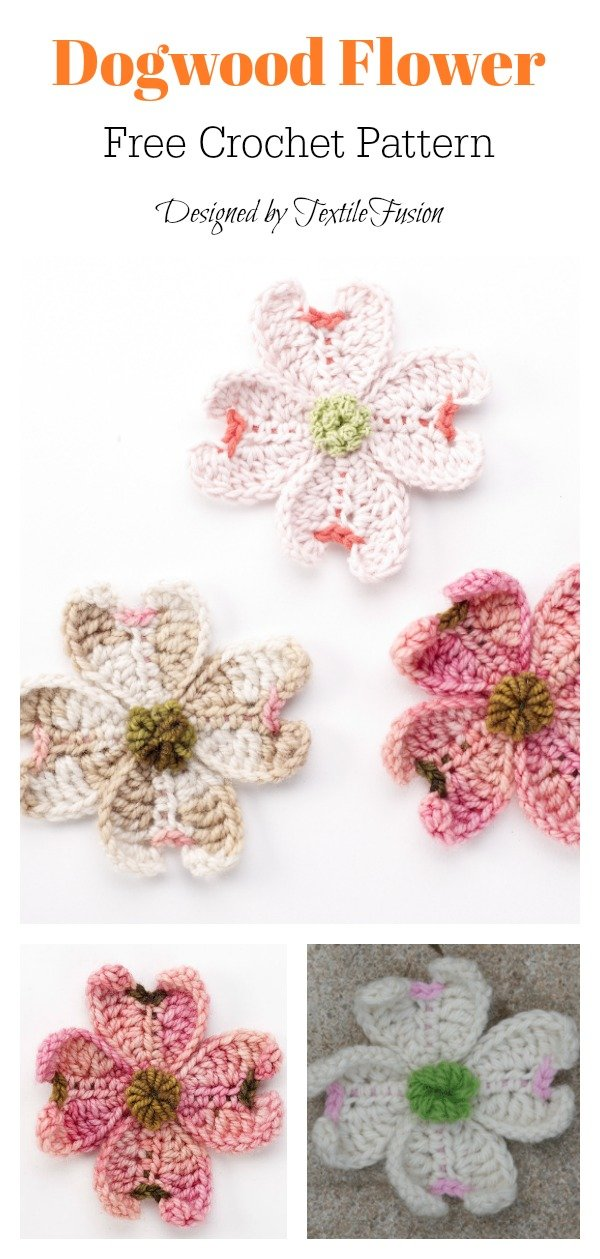 Dogwood Flower Free Crochet Pattern