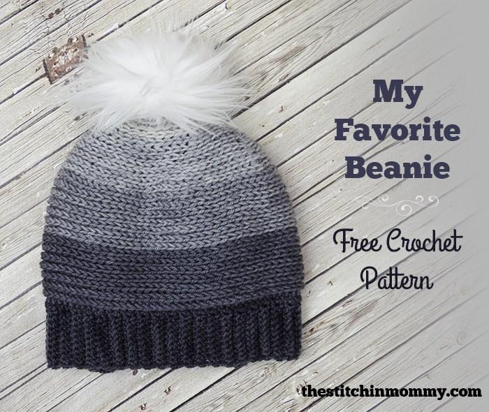 My Favorite Beanie Free Crochet Pattern