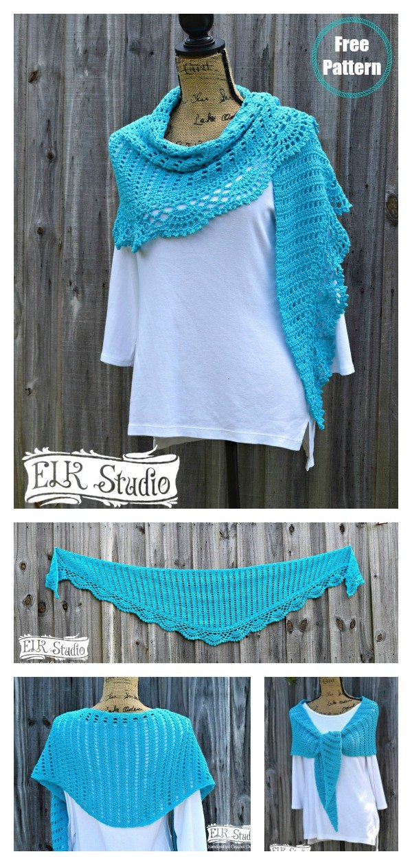 Naturally Southern Shawl Free Crochet Pattern