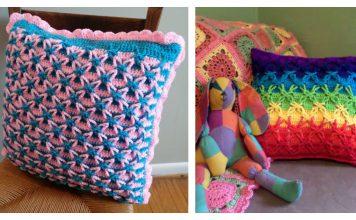 Polish Star Stitch Pillow Free Crochet Pattern