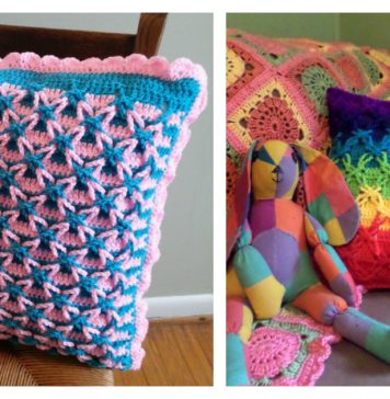 Polish Star Stitch Pillow Free Crochet Pattern