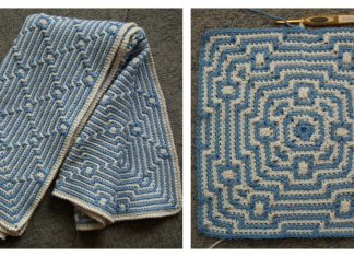 Raspberry Pi Mosaic Throw Free Crochet Pattern