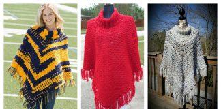 Sporty Poncho Free Crochet Pattern