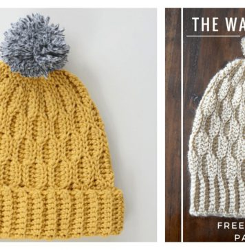 The Wave Beanie Hat Free Crochet Pattern and Video Tutorial
