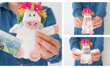 Unicorn Gift Card Holder Free Crochet Pattern
