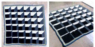 3D Illusion Cubine Blanket FREE Crochet Pattern