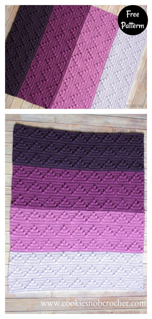 Bobble Wobble Blanket Free Crochet Pattern