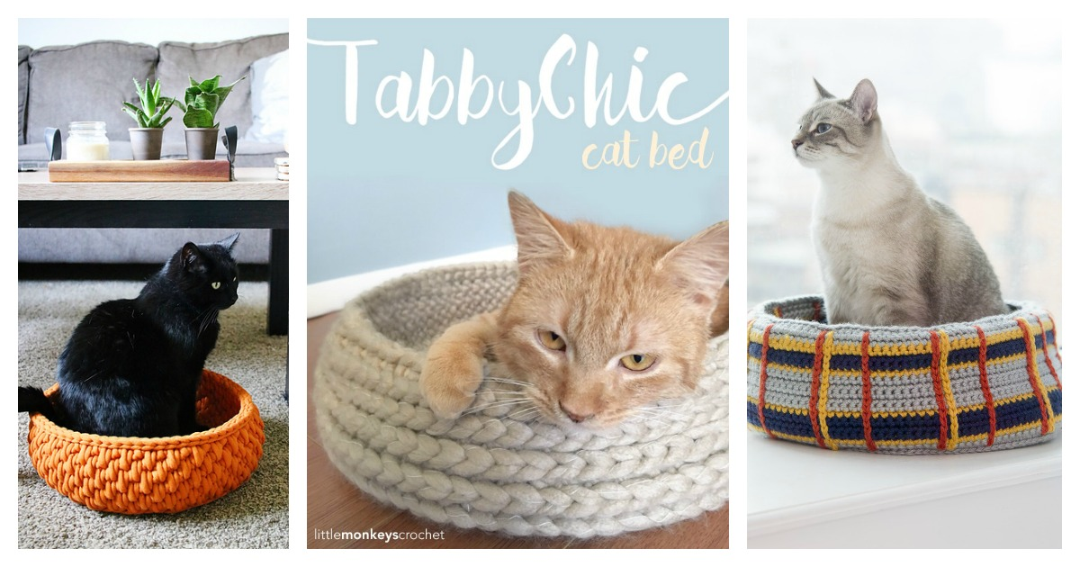Crochet Cat Bed Pattern-Free - 2yamaha.com | 630x1200