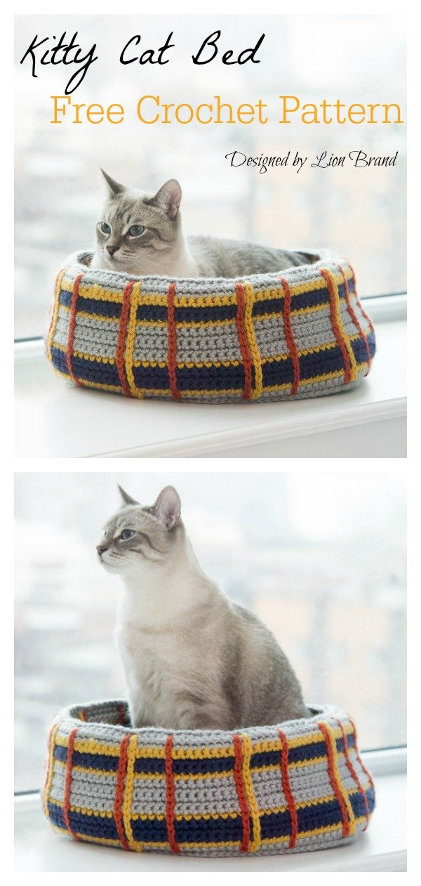 Curl-Up Kitty Cat Bed Free Crochet Pattern