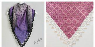 Dusty Diamond Shawl Free Crochet Pattern