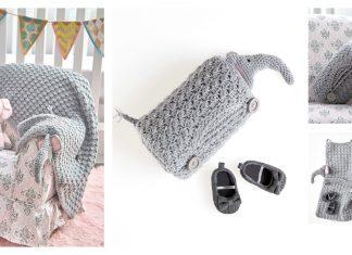 Elephant Baby Blanket FREE Crochet Pattern