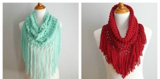 Fringe Cowl Free Crochet Pattern and Video Tutorial