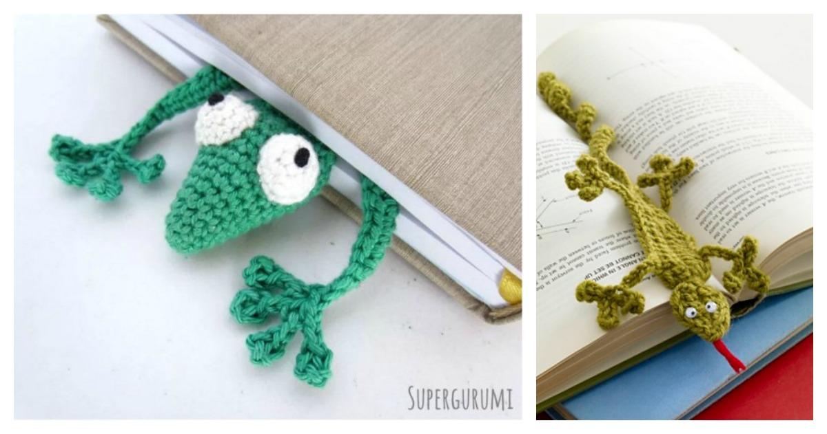 Gecko Bookmark Free Crochet Pattern