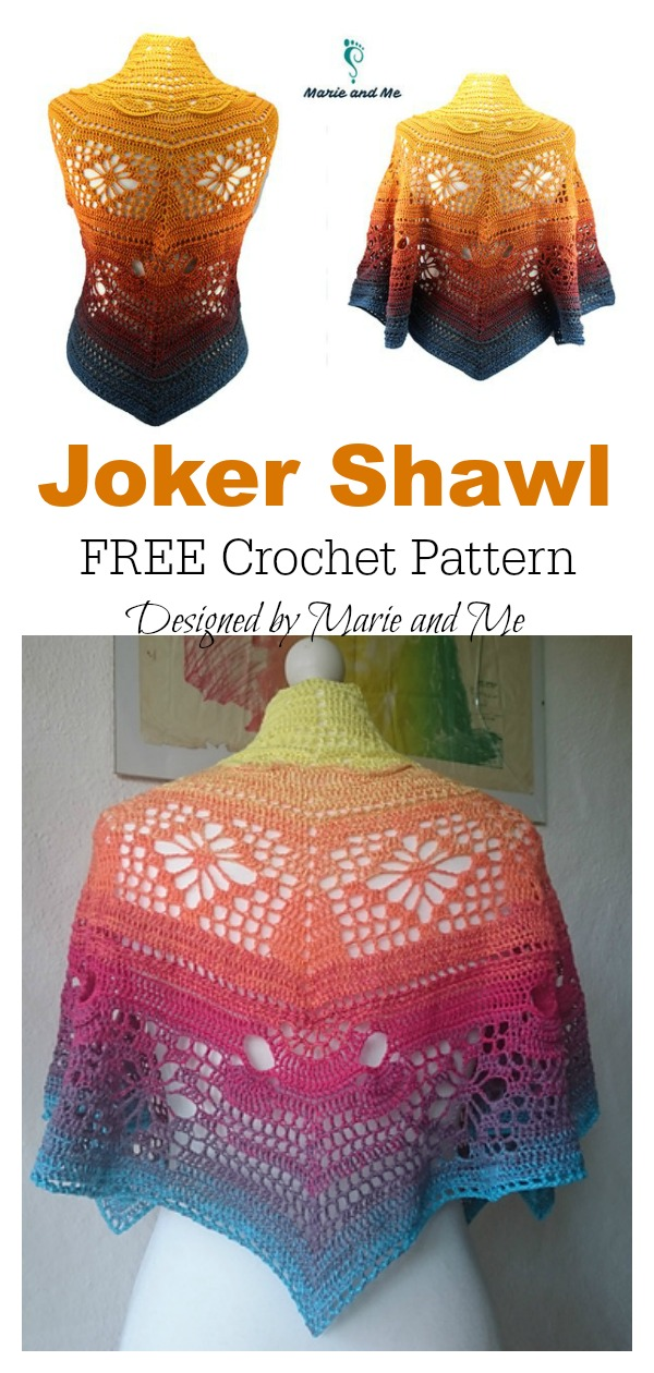Joker Shawl FREE Crochet Pattern