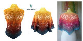 Joker Shawl FREE Crochet Pattern