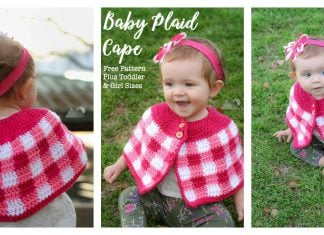 Kids Plaid Cape Free Crochet Pattern