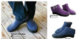 Monticello Slippers Free Crochet Pattern