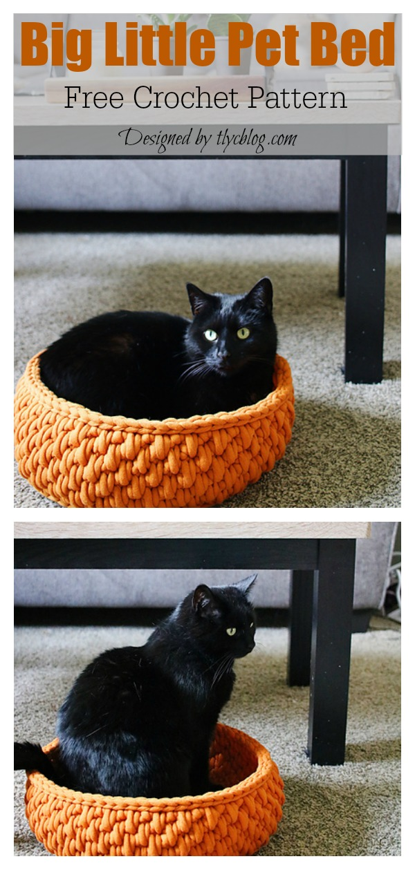 Pet Cat Bed Free Crochet Pattern