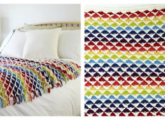 Rainbow Chic Throw FREE Crochet Pattern