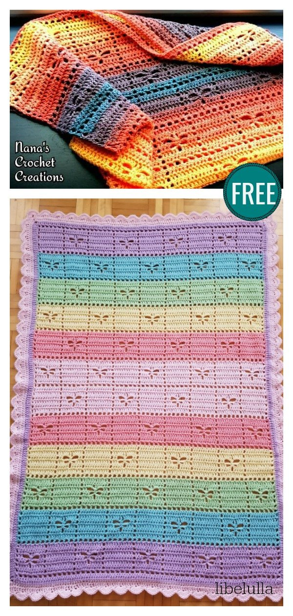 Square Dancing Dragonflies FREE Crochet Pattern